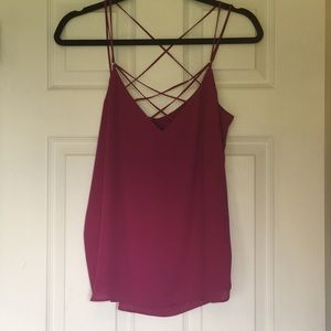 Express Strappy Cami NWT 🔥berry color